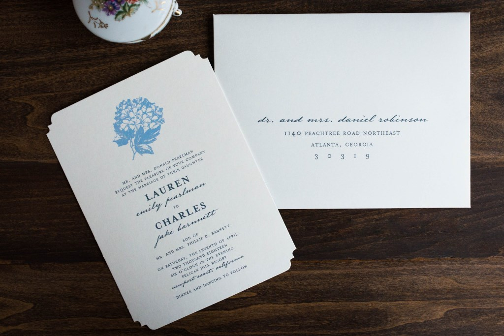 BEAUTIFUL BLOSSOM WEDDING INVITATIONS