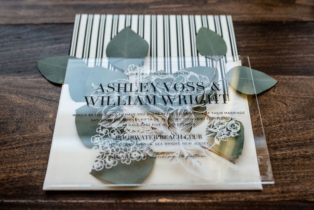 BLOSSOM ACRYLIC WEDDING INVITATION