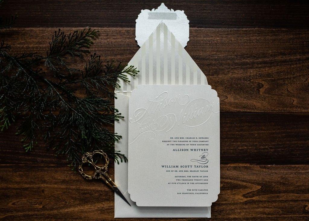 CLASSIC AMOR WEDDING INVITATIONS
