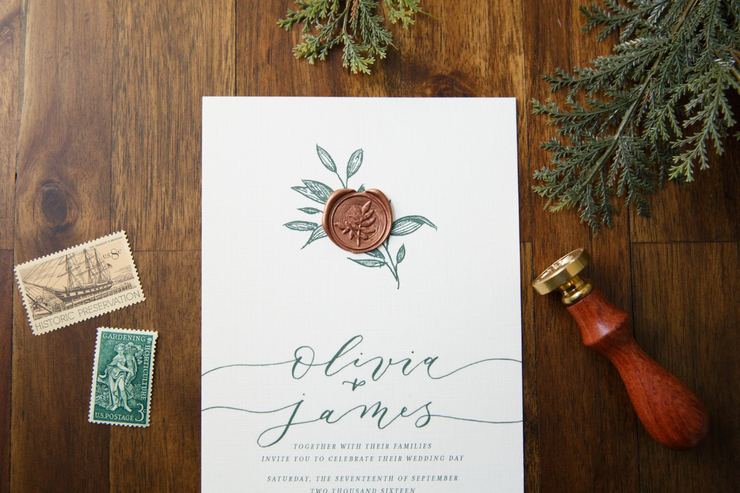 EARTHY ROMANCE WEDDING INVITATIONS PHOTO 2