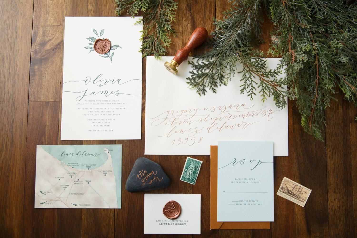 EARTHY ROMANCE WEDDING INVITATIONS PHOTO 3