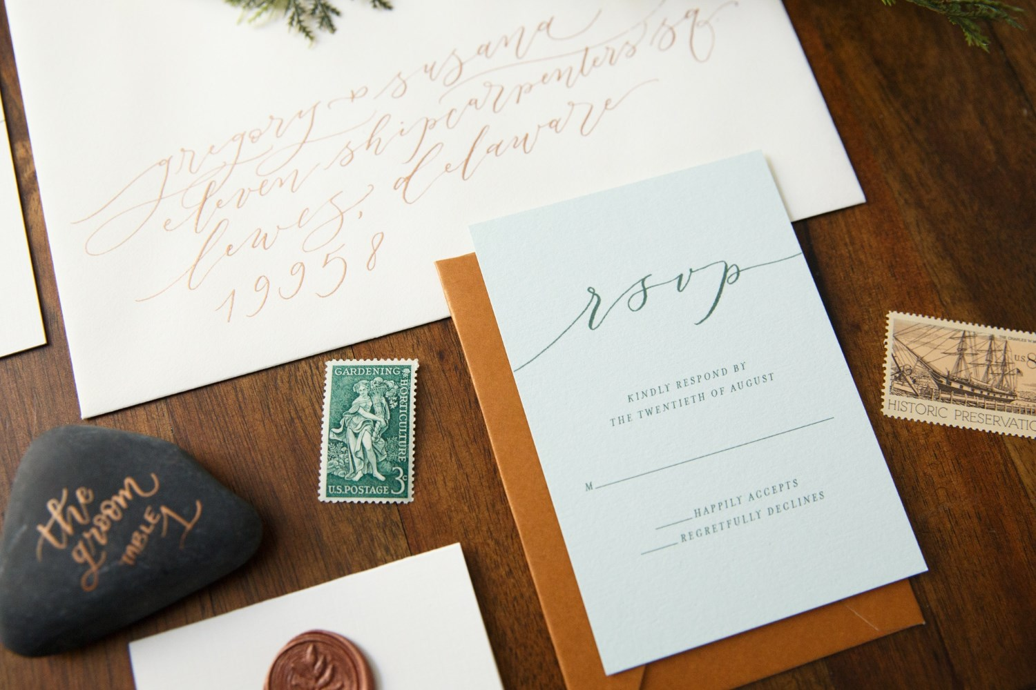 EARTHY ROMANCE WEDDING INVITATIONS PHOTO 4