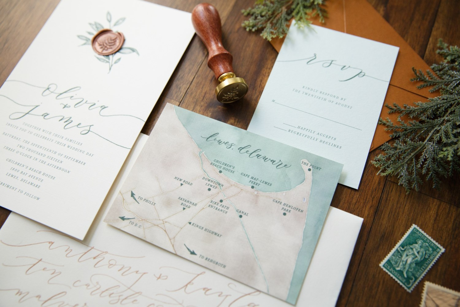EARTHY ROMANCE WEDDING INVITATIONS PHOTO 5
