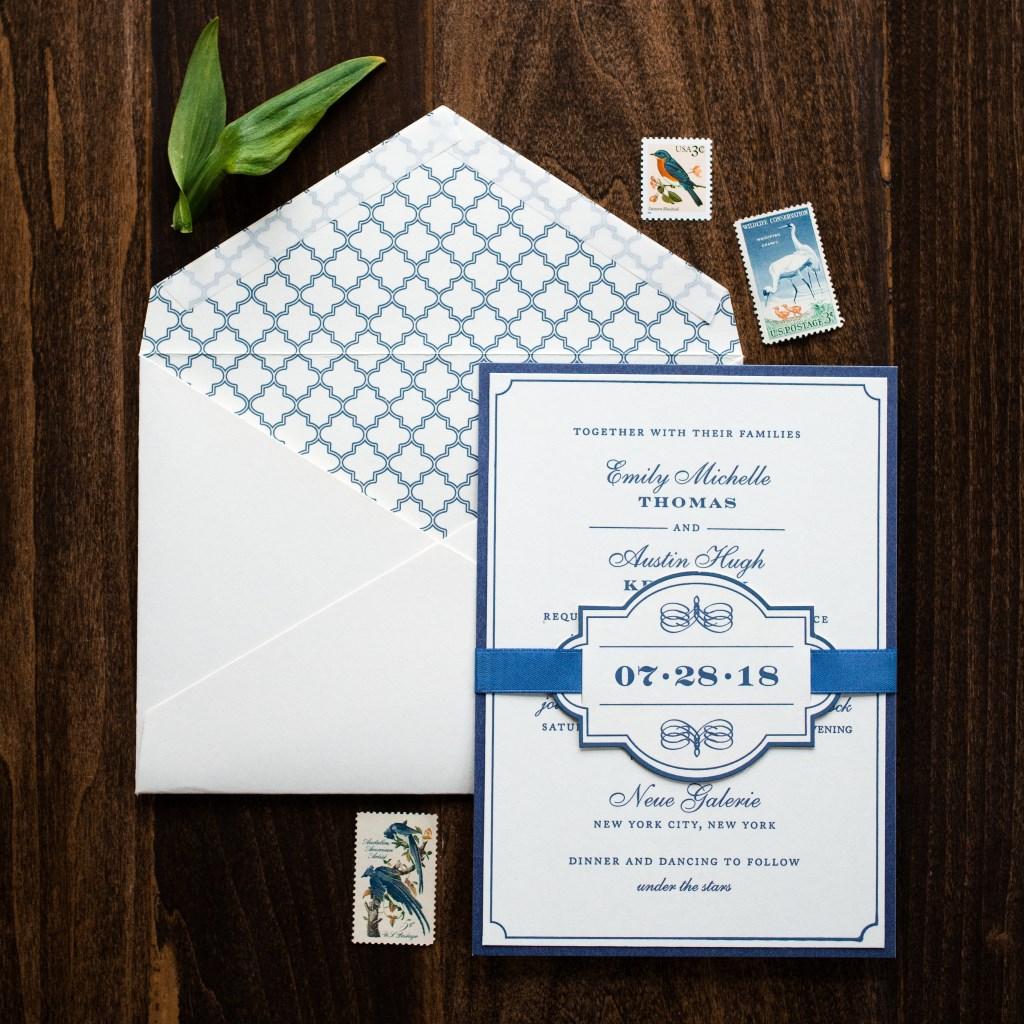 ELEGANT RIBBON WEDDING INVITATIONS