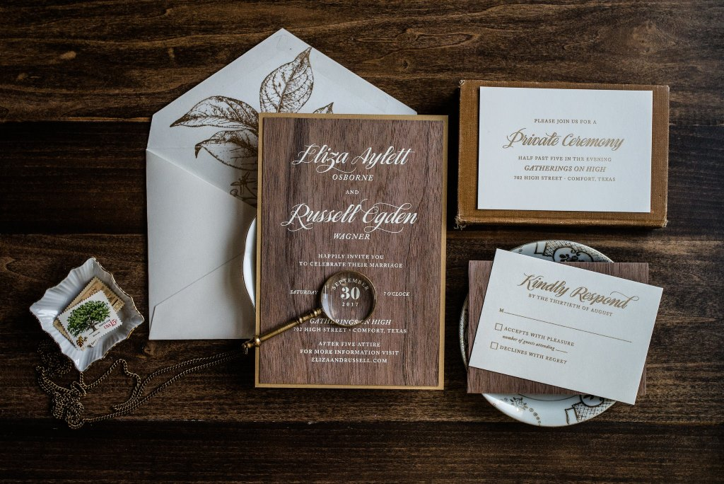 ENCHANTED WOODS WEDDING INVITATIONS