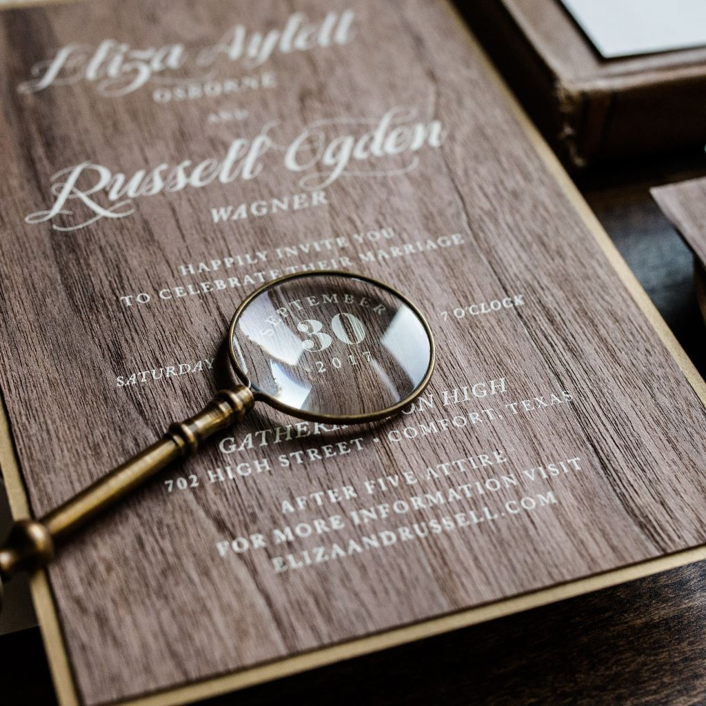 ENCHANTED WOODS WEDDING INVITATIONS PHOTO 2