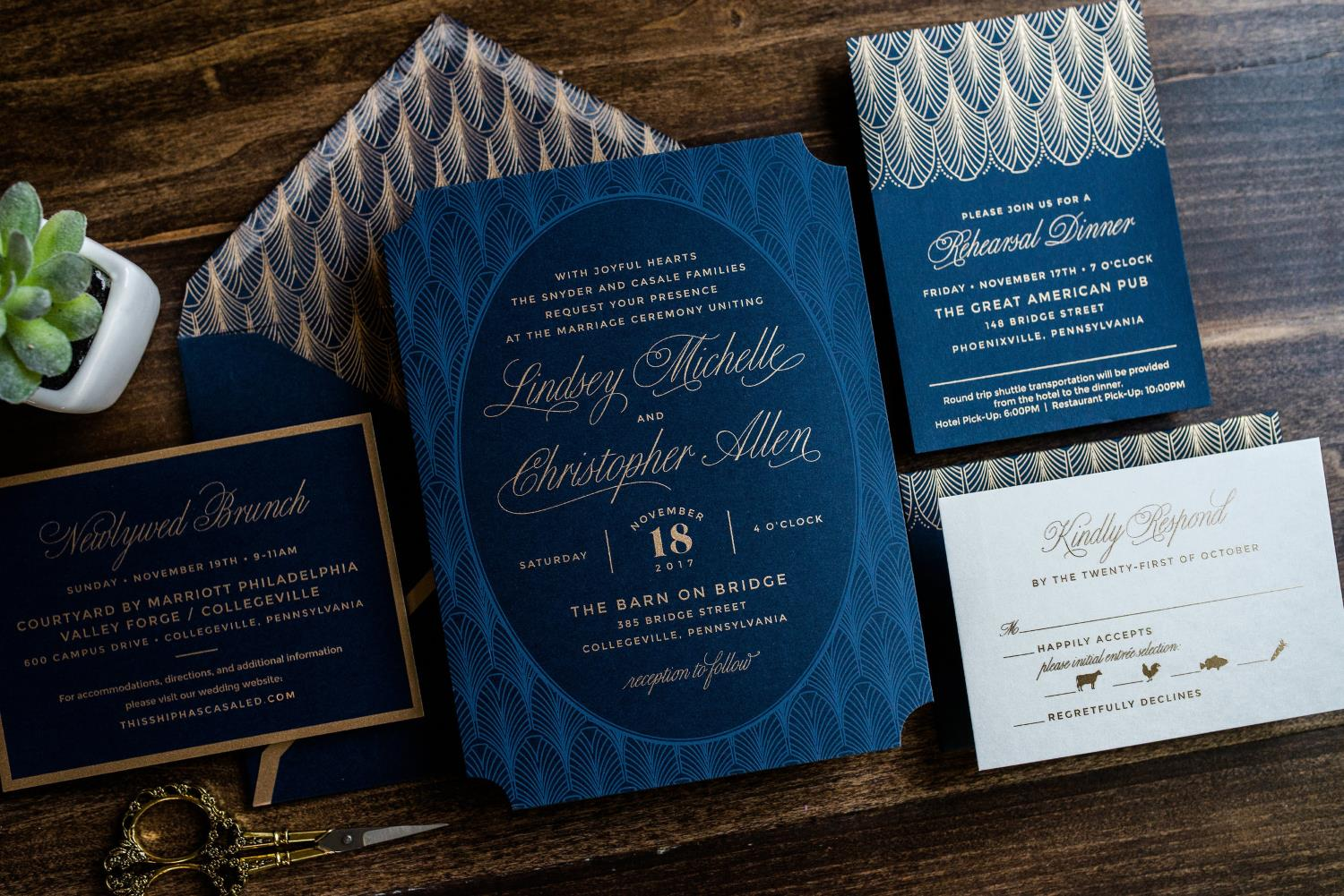 EVENING GLAMOUR WEDDING INVITATIONS