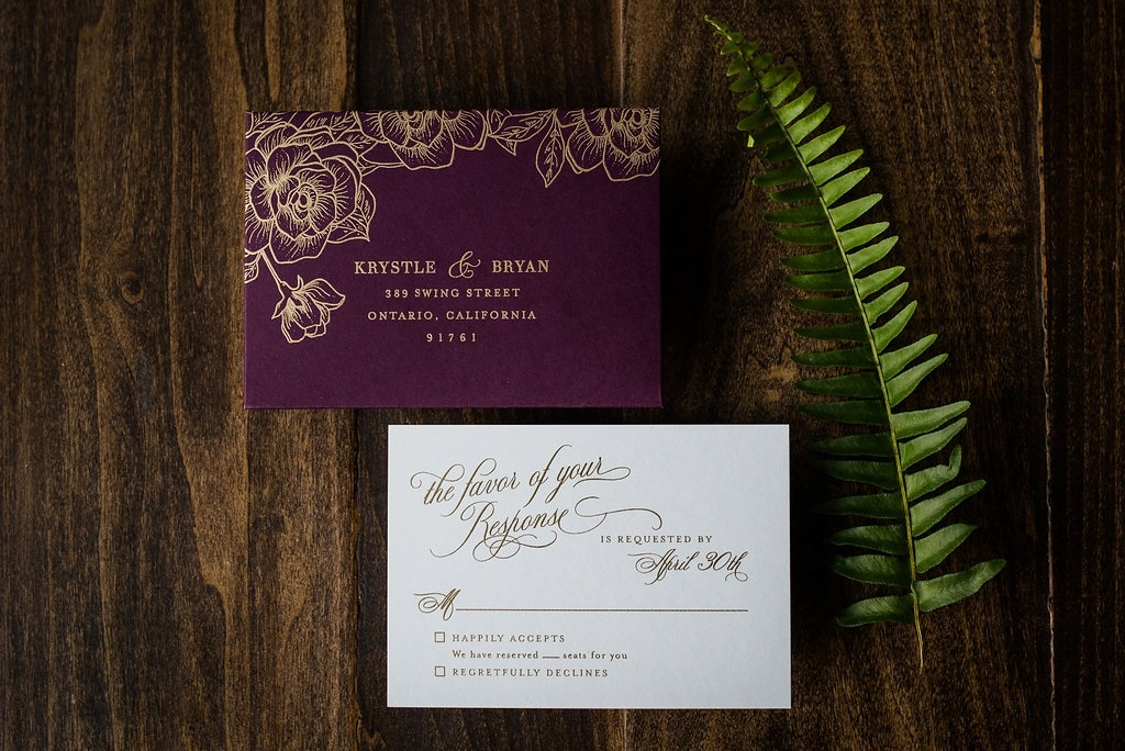 FLORAL VELVET WEDDING INVITATIONS PHOTO 2
