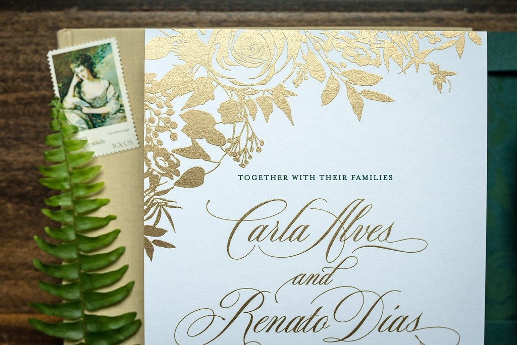 FOREST FLORAL WEDDING INVITATIONS PHOTO 2