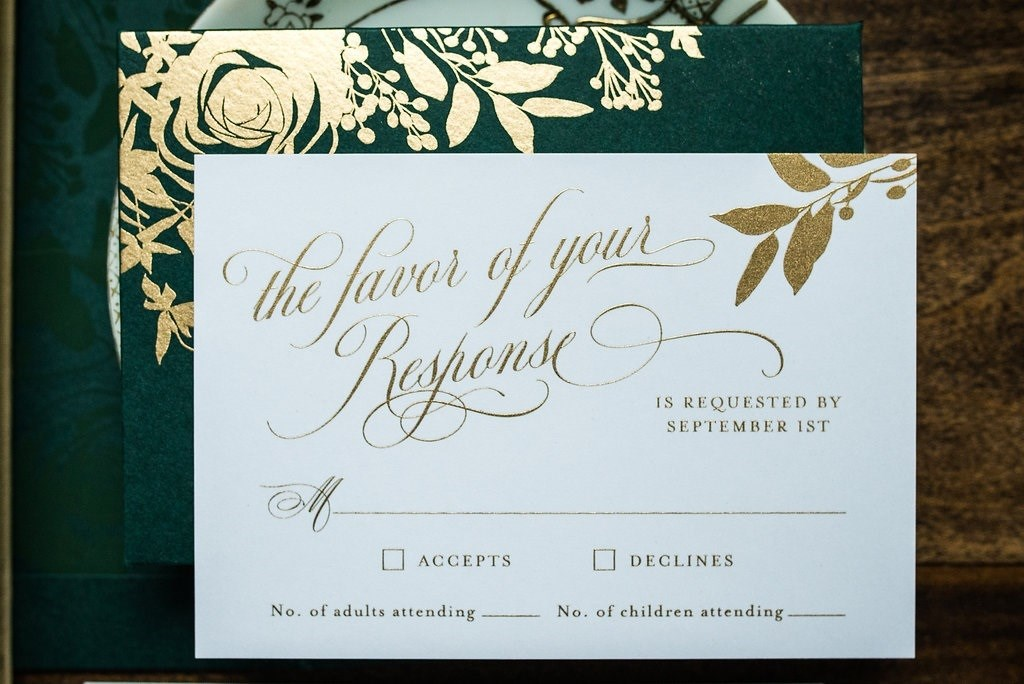 FOREST FLORAL WEDDING INVITATIONS PHOTO 3