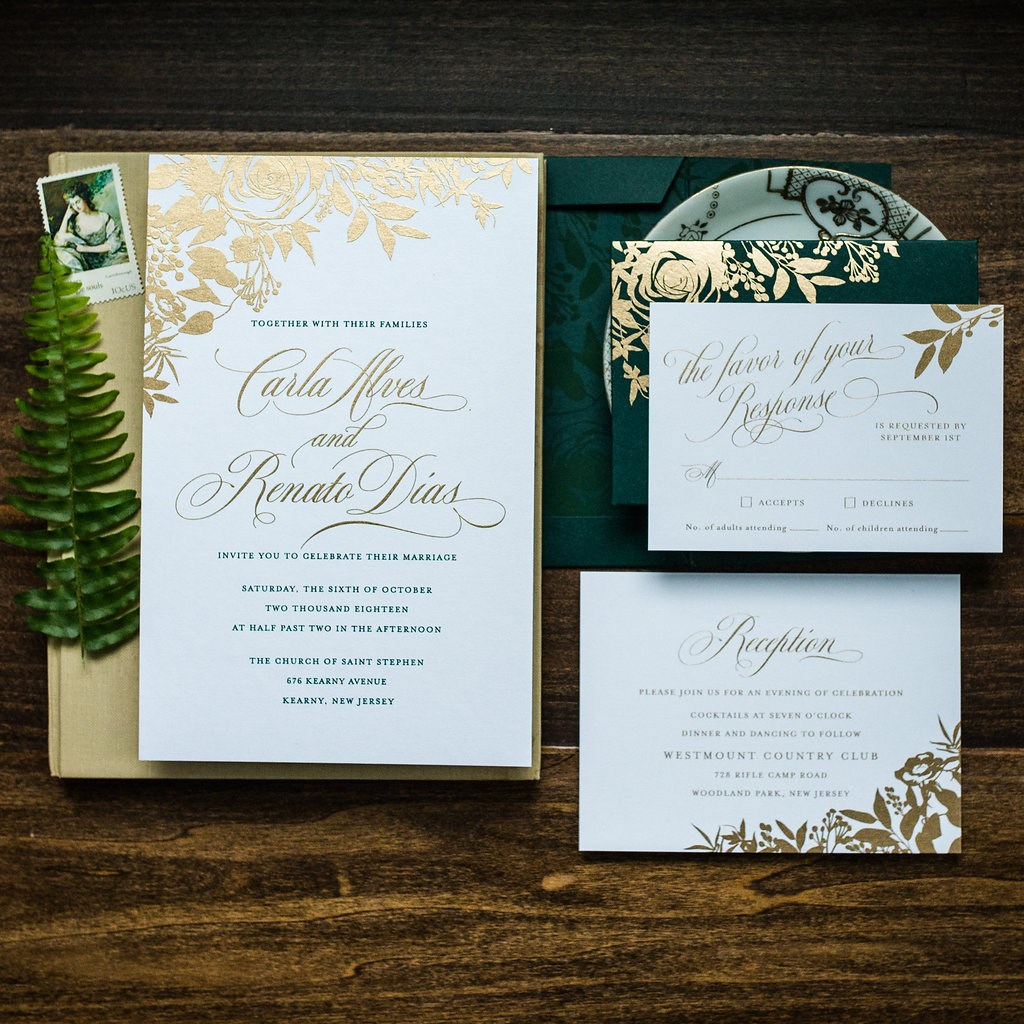 FOREST FLORAL WEDDING INVITATIONS PHOTO 6