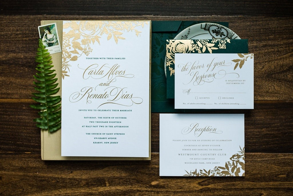 FOREST FLORAL WEDDING INVITATIONS