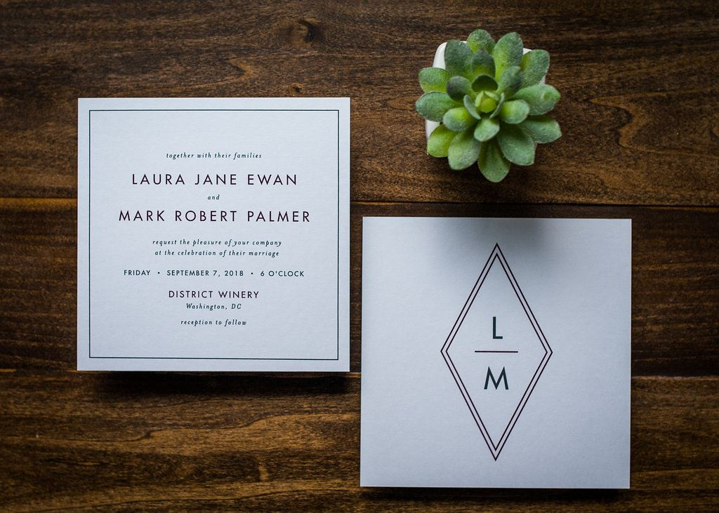 GEO ORIGAMI WEDDING INVITATIONS PHOTO 2