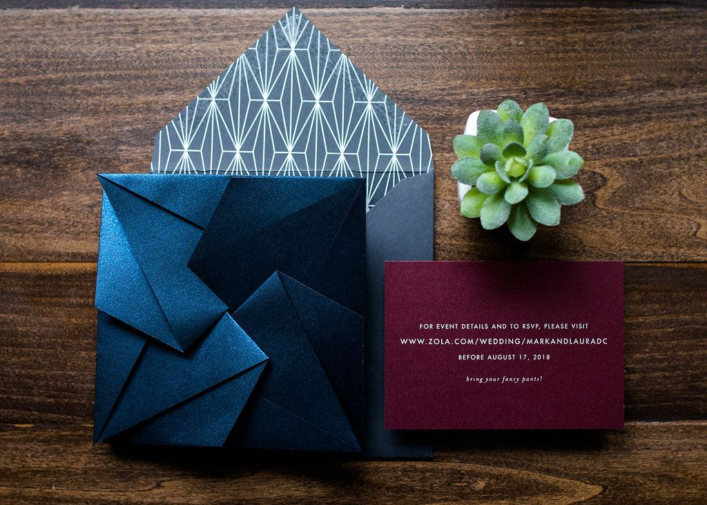 GEO ORIGAMI WEDDING INVITATIONS PHOTO 3