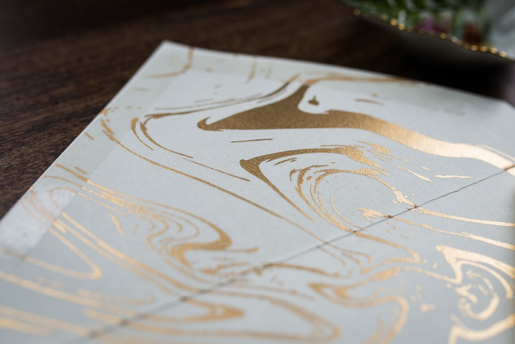 GOLD MARBLE INVITATIONS PHOTO 2