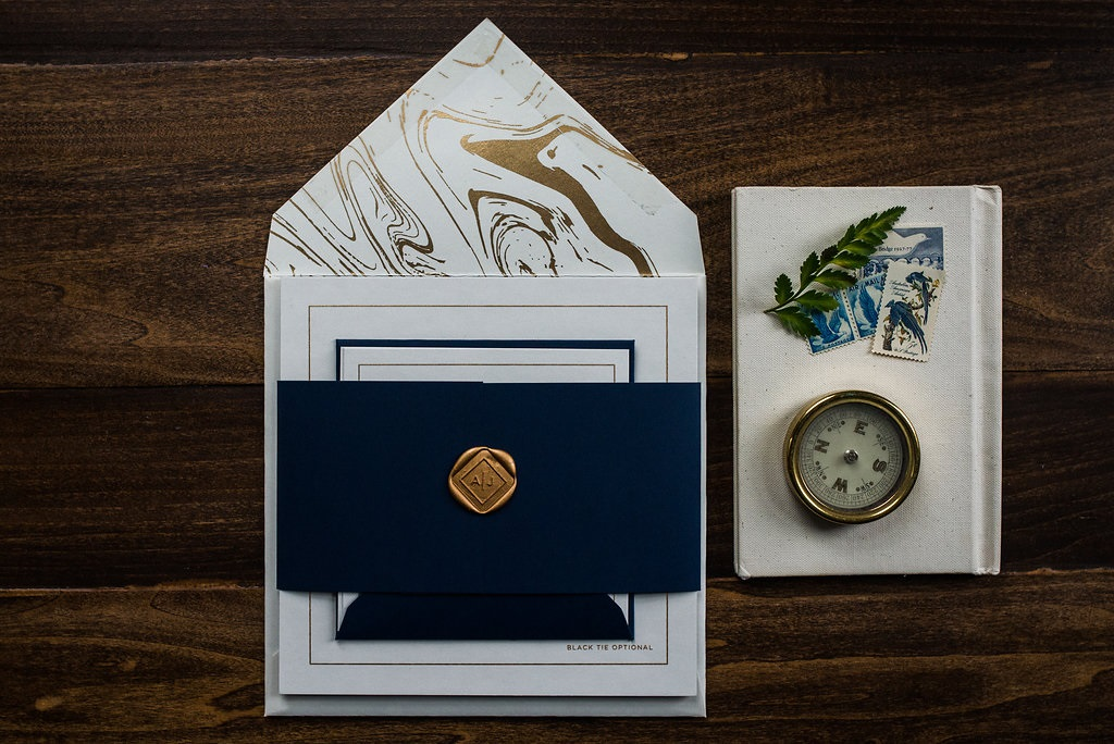 GOLD MARBLE INVITATIONS PHOTO 3