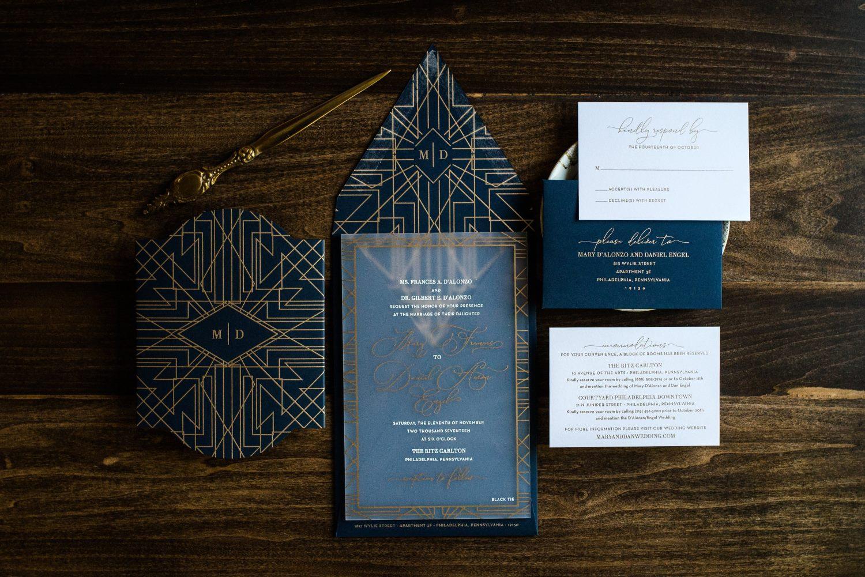 GOLDEN GLITZ ACRYLIC INVITATIONS PHOTO 2