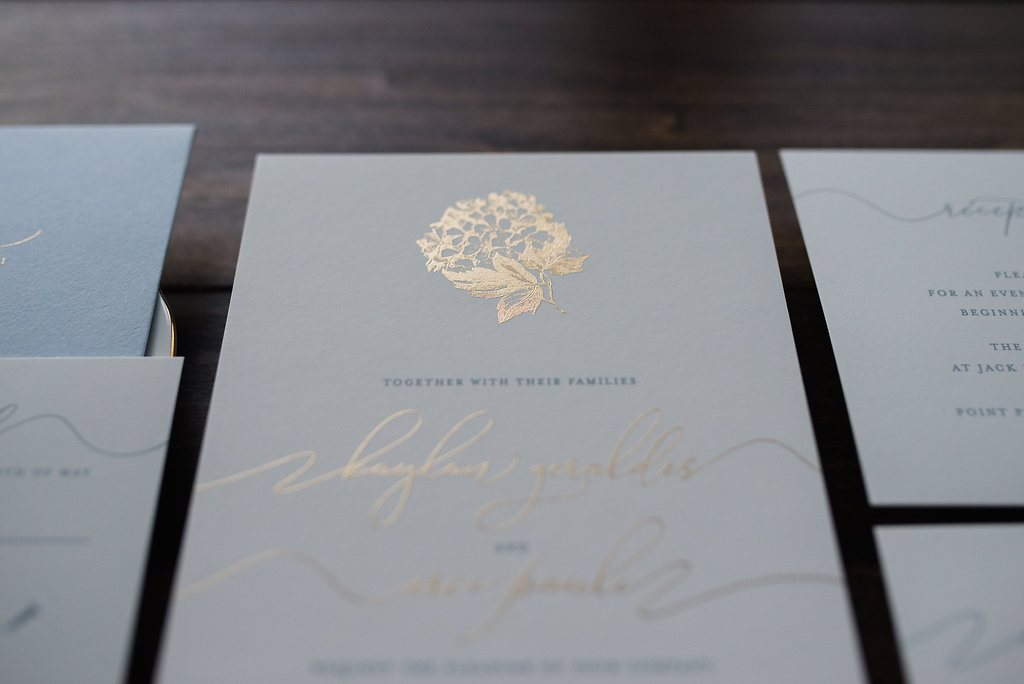 HYDRANGEA BLUE WEDDING INVITATIONS PHOTO 2