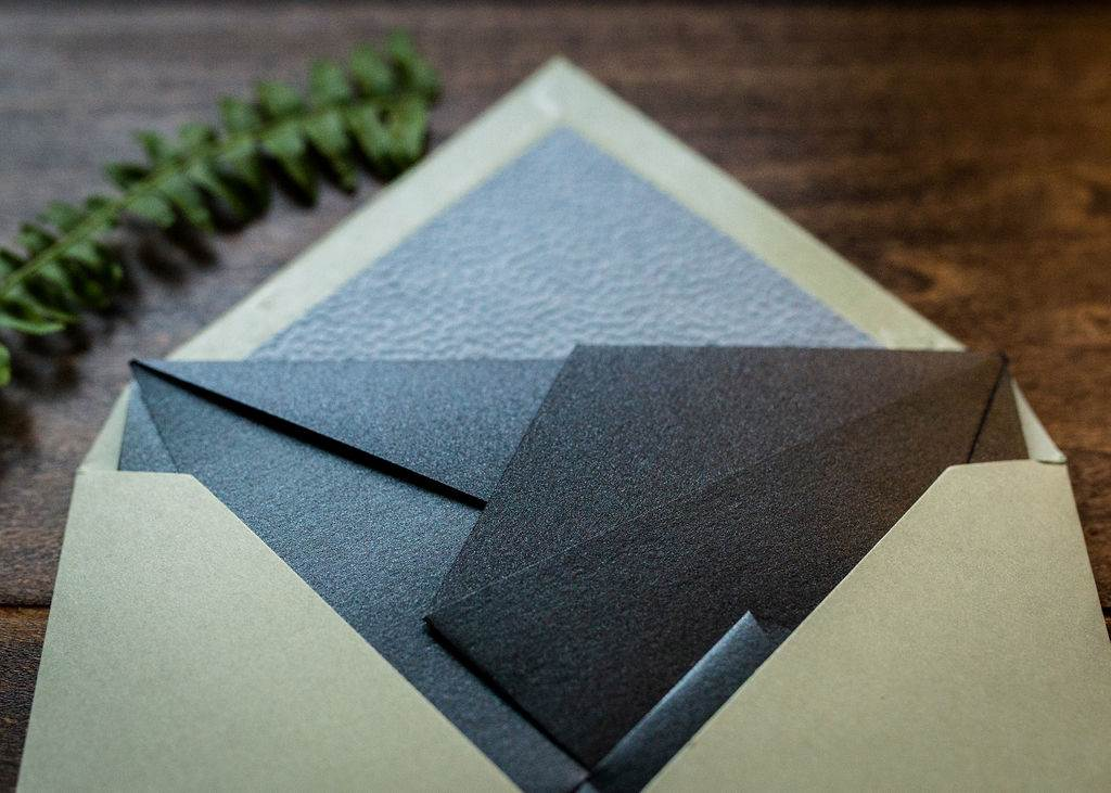 LEATHER ORIGAMI WEDDING INVITATIONS PHOTO 4