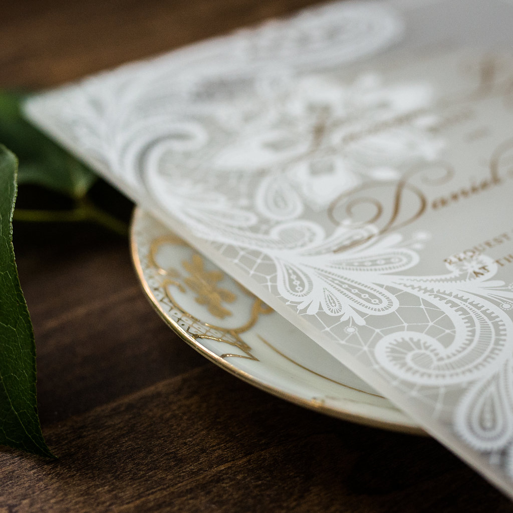 LOVELY LACE ACRYLIC INVITATIONS PHOTO 2