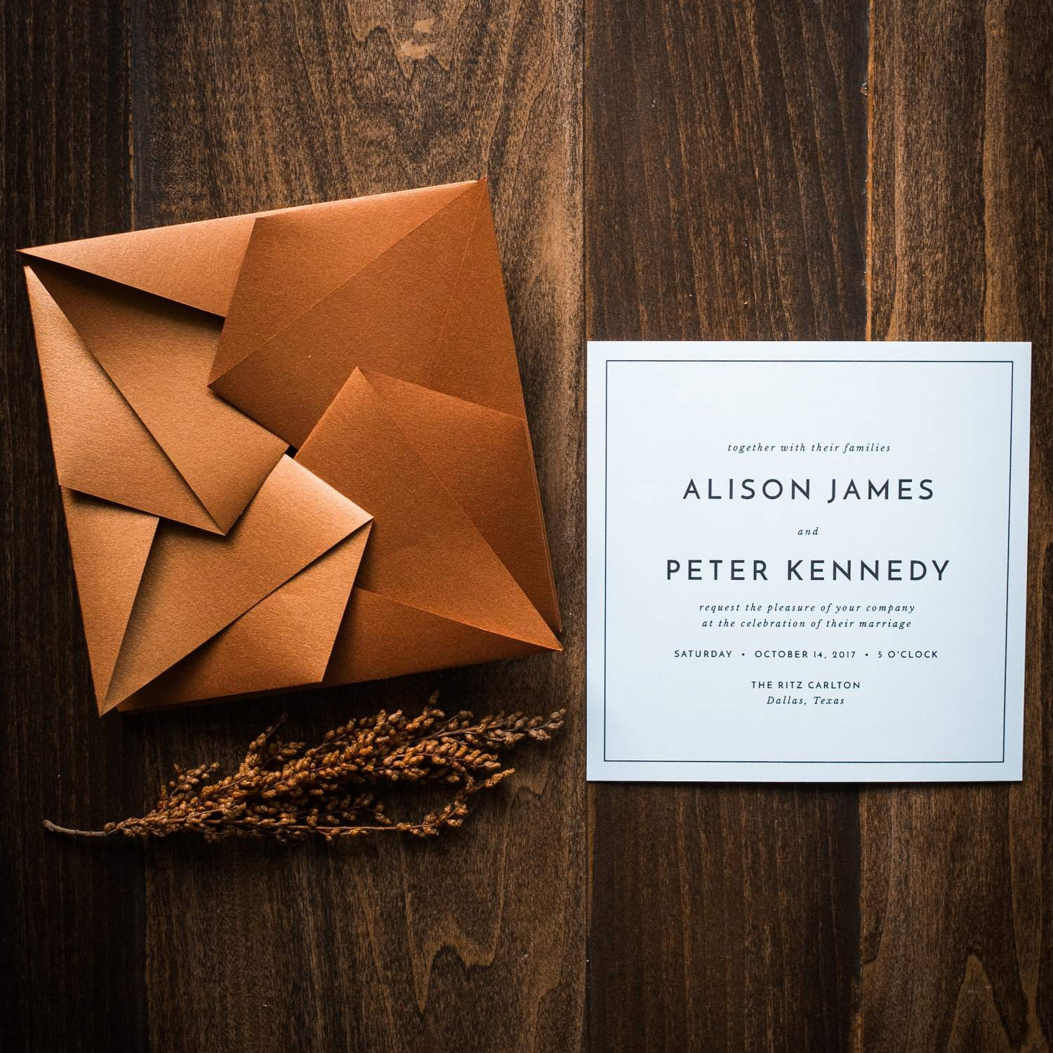 MODERN ORIGAMI WEDDING INVITATIONS PHOTO 4