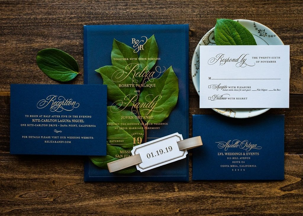 MONOGRAM ACRYLIC INVITATIONS