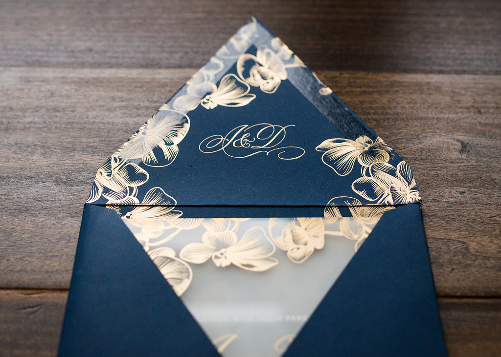 ORCHID ACRYLIC WEDDING INVITATIONS PHOTO 3