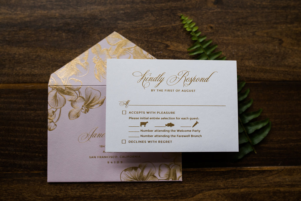 ORCHID ACRYLIC WEDDING INVITATIONS PHOTO 4