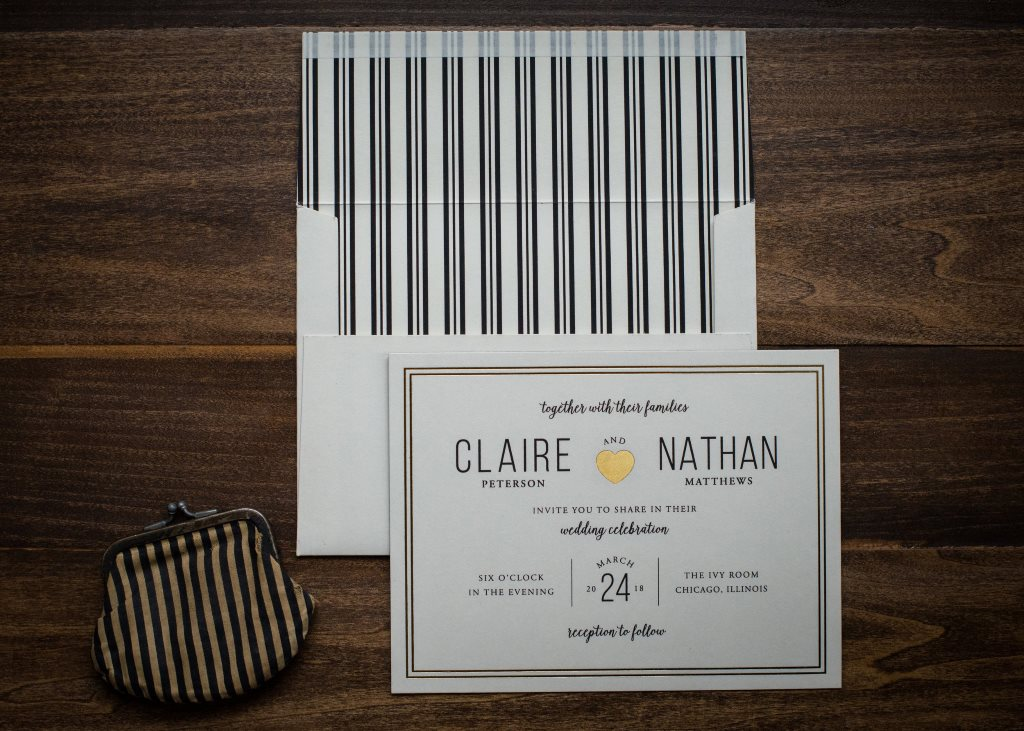 SHINING HEART WEDDING INVITATIONS