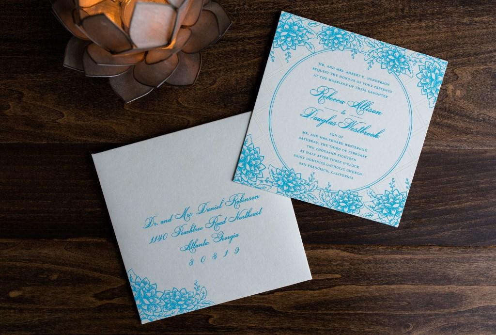 SQUARE GARDEN PARTY WEDDING INVITATIONS