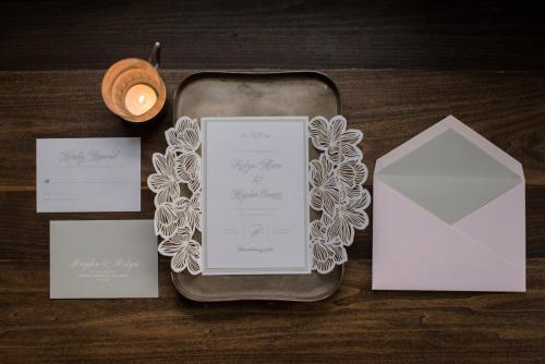 WILDFLOWER LASER-CUT GATEFOLD WEDDING INVITATIONS photo 2
